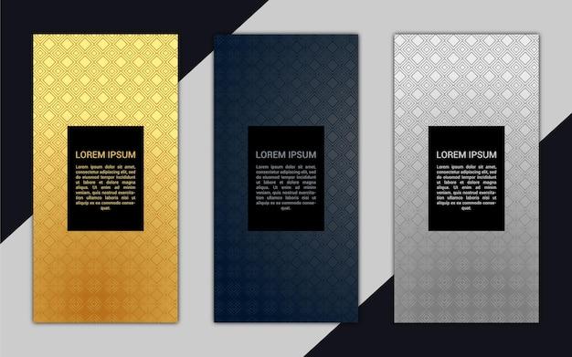 Lindo banner vertical de luxo com padrão