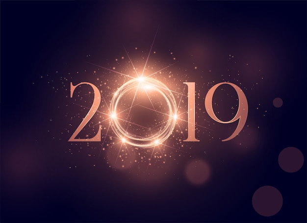 Lindo brilhante fundo brilhante de 2019