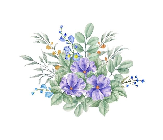 Lindo buquê de flores e folhas