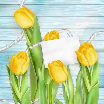 Lindo buquê de tulipas.