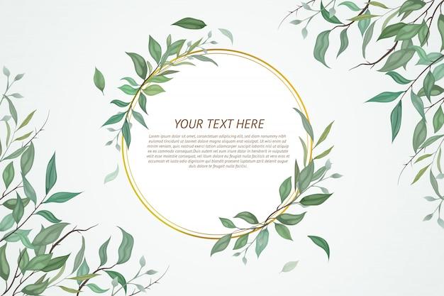 Lindo cartão com design floral.
