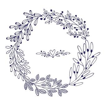 Lindo cartão com guirlanda floral