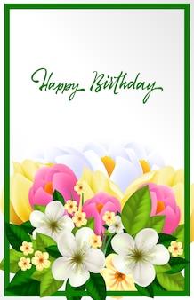Lindo cartão de aniversário