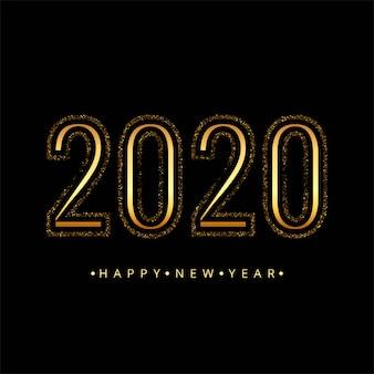 Lindo cartão de celebração de ano novo de 2020