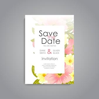 Lindo cartão de convite de casamento