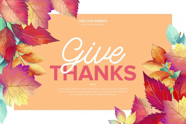 Lindo cartão de dia de ação de graças