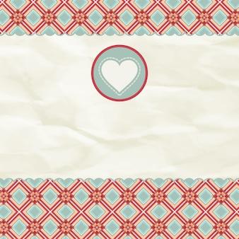 Lindo cartão de dia dos namorados com o coração.