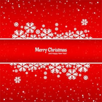 Lindo cartão de feliz natal com fundo de floco de neve