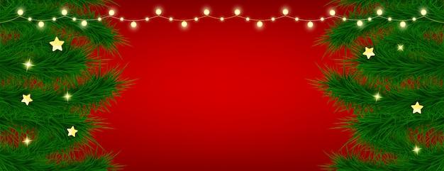 Lindo cartão de natal em fundo vermelho