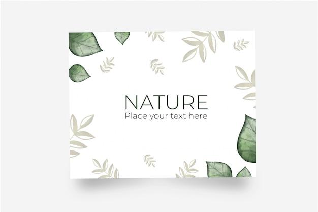 Lindo cartão feito com folhas naturais