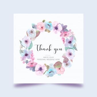 Lindo cartão floral em aquarela