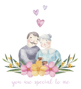 Lindo casal apaixonado, avós, dia dos namorados