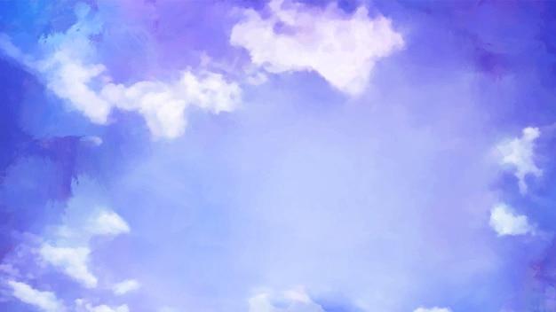 Lindo céu com fundo artístico de nuvens. artesanato pintura paisagem design