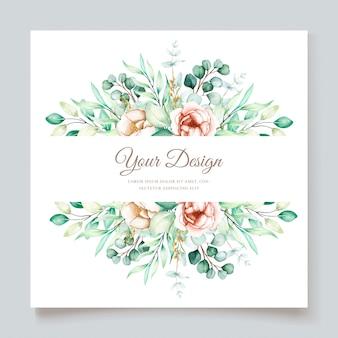 Lindo conjunto de cartão de convite de casamento de eucalipto