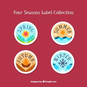 Lindo conjunto de emblemas de temporadas