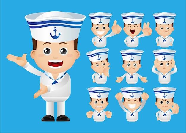 Lindo conjunto de homem da marinha