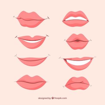 Lindo conjunto de lábios