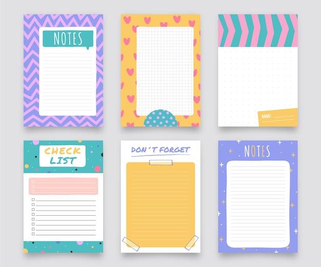 Lindo conjunto de notas e cartões para scrapbook