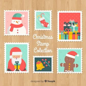 Lindo conjunto de selos de natal