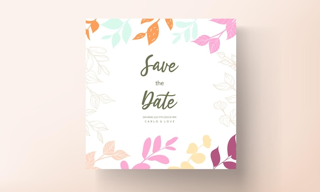 Lindo convite de casamento desenhado à mão