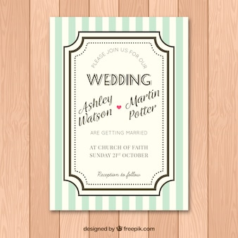 Lindo convite de casamento