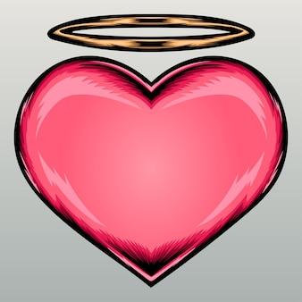 Lindo coração de anjo.