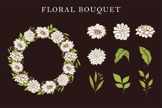Lindo desenho de buquê floral