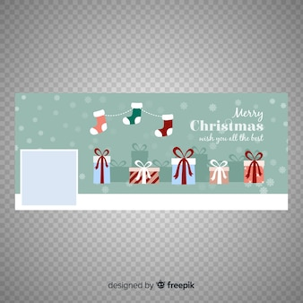 Lindo design de banner do facebook de natal