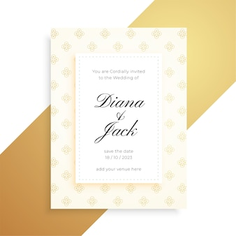 Lindo design de cartão de casamento