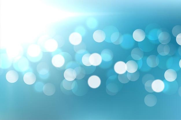 Lindo design de efeito de luz azul bokeh