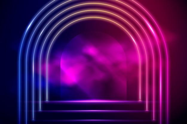Lindo design de fundo de néon