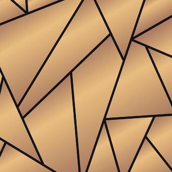 Lindo design de padrão dourado com peças
