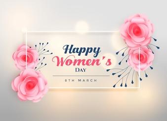 Lindo dia das mulheres lindo rosa fundo