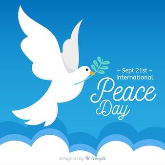 Lindo dia de fundo de paz com pombo