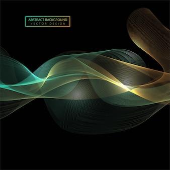 Lindo elegante colorido brilhante onda vector