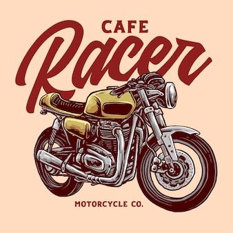 Lindo emblema de motocicleta clássica personalizada