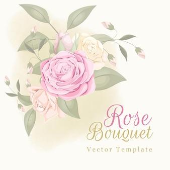 Lindo enfeite de casamento com rosa e folhas