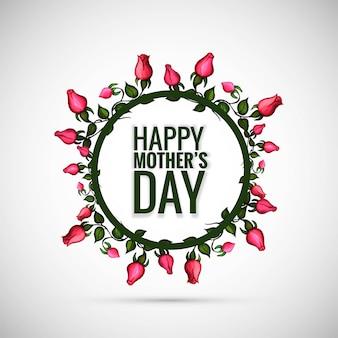 Lindo feliz dia das mães com fundo floral