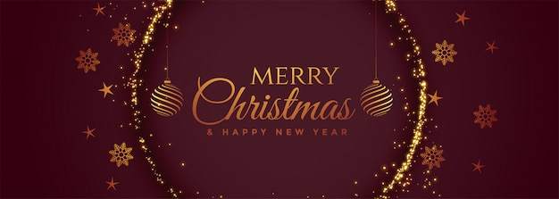Lindo feliz natal festival banner decorativo