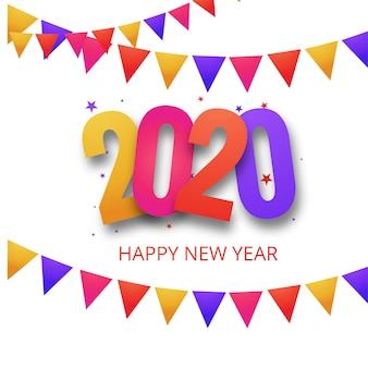 Lindo festival 2020 ano novo cartão de celebração