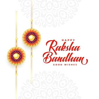 Lindo festival raksha bandhan deseja design de cartão