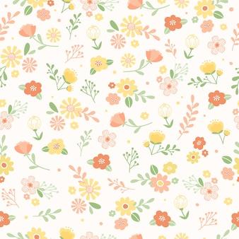 Lindo floral fundo sem emenda.