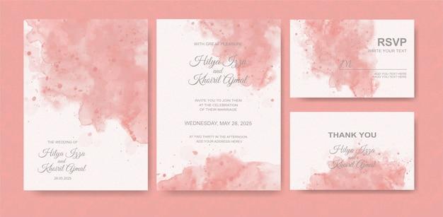 Lindo fundo aquarela para cartão de casamento