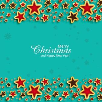 Lindo fundo de cartão de natal com estrelas brilhantes