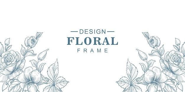 Lindo fundo de cartão floral de casamento