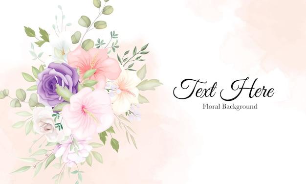 Lindo fundo de flores macias