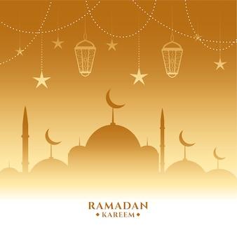 Lindo fundo dourado ramadan kareem