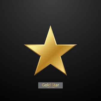 Lindo fundo estrela de ouro arranjado para decorar várias celebrações