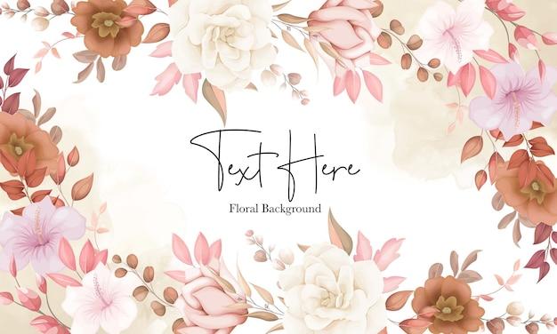 Lindo fundo floral boho com flor marrom