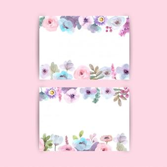 Lindo fundo floral com flores em aquarela